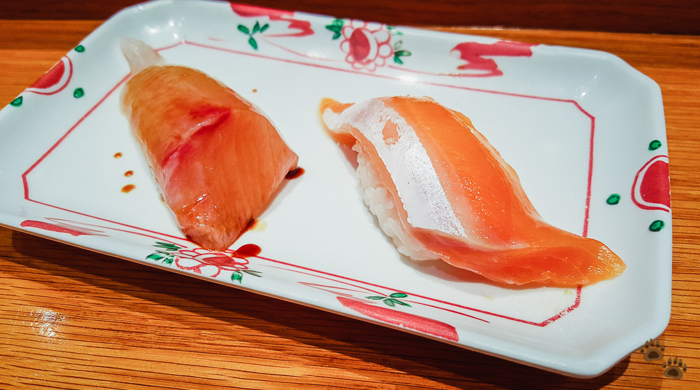 Amberjack (Kanpachi) and Arctic Char - Sushi SAM's EDOMATA