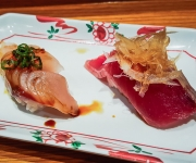 Spanish Mackerel and Fresh Bonito - Sushi SAM's EDOMATA