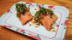 Alaskan White King Salmon - Sushi SAM's EDOMATA