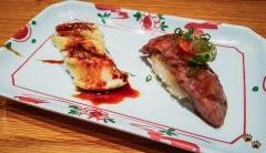 Anago and Miyazaki Beef - Sushi SAM's EDOMATA