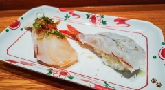 Butterfish and Blue Shrimp - Sushi SAM's EDOMATA