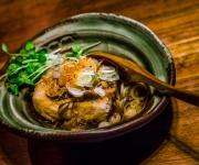 Agedashi Tofu with Mushroom Sauce - Ippuku, Berkeley, CA