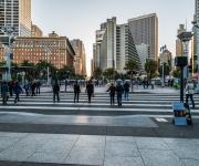 Crossing The Embarcadero - San Francisco Ferry Building - California