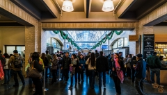 Queue for Blue Bottle Coffee - San Francisco Ferry Building - California