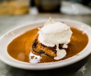 Maple bread pudding with espresso butter sauce - The Walrus and The Carpenter, Seattle, Washington