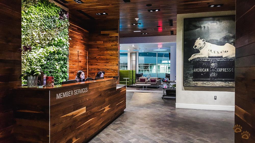 The AMEX Centurion Lounge DFW Entrance