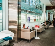 Seating in the hallway @ The AMEX Centurion Lounge DFW