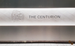 The Centurion SIgn @ The AMEX Centurion Lounge DFW