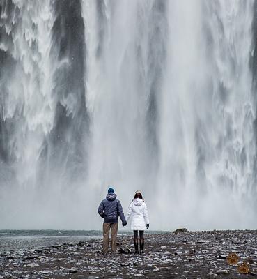 Togetherness - Skógafoss - Suðurland (Southern Region), Iceland